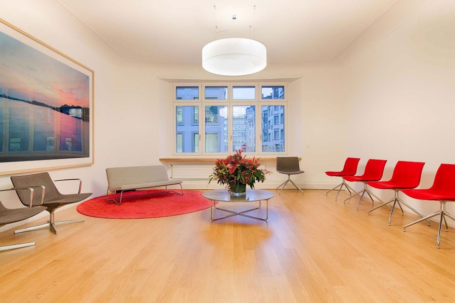 ENT practice of HNO medic Zurich waiting room